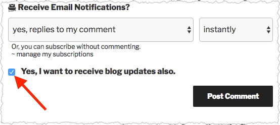receive updates